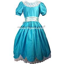 Deep Sea teal blue Clara or Party Scene Costume for Nutcracker Ballet
