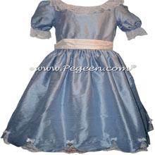 Denim Blue and Ivory Nutcracker Dress Style 724