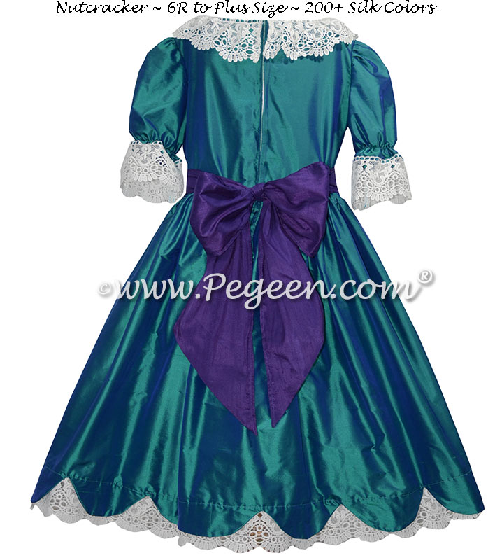 Holiday Green and Royal Purple Nutcracker Dress Style 724