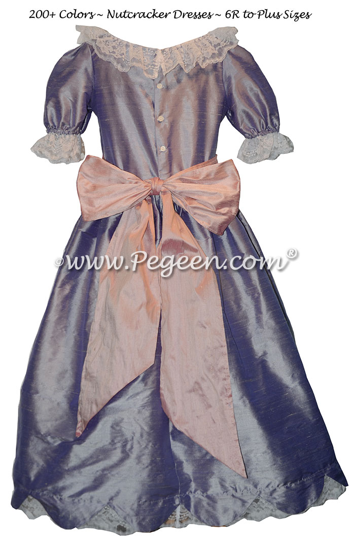 Victorian Lilac and Mauve Silk Nutcracker Dress for Clara and the Party Scene Style 724