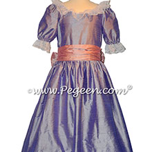 ilac and Mauve Silk Nutcracker Dress for Clara and the Party Scene Style 724