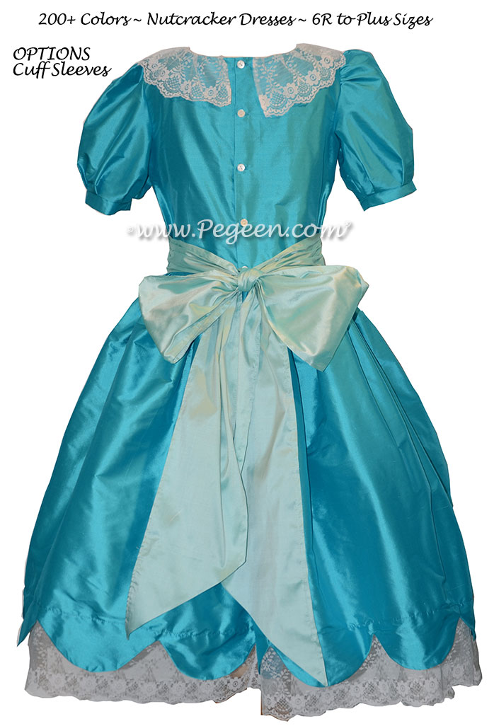 Matisse and Spa Blue Silk Nutcracker Dress for Clara and the Party Sene Style 724