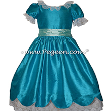 Mosaic Blue and Pond Aqua Silk Nutcracker Dress for Clara and the Party Scene Style 724
