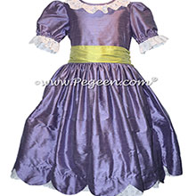 Periwinkle and Sprite Green Silk Nutcracker Dress for Clara and the Party cene Style 724