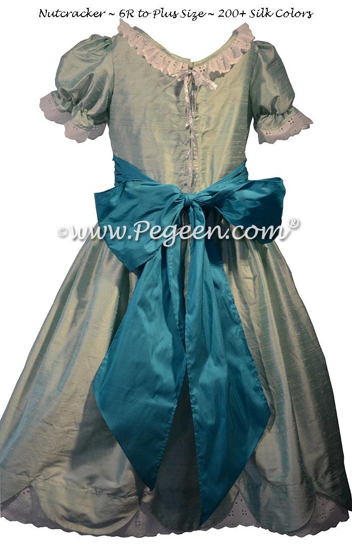 Seaside Green and Capri Teal Nutcracker Dresses Style 724