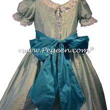 Seaside Green and Capris Teal Nutcracker Dresses