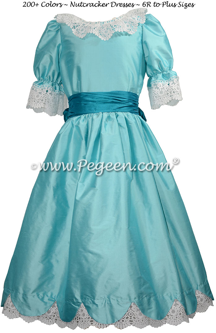 Pond Blue and mosaic teal Nutcracker Dress Style 724