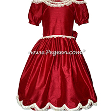 Cranberry Nutcracker Ballet Party Scene Dresses - Style 725 | Pegeen