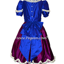 Indigo Blue and Berry (purple) Nutcracker Ballet Party Scene Dresses - Style 725 | Pegeen