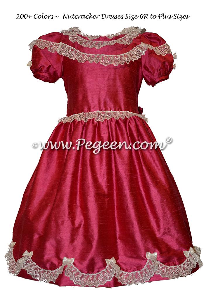 Dark Pink Nutcracker Ballet Party Scene Dresses - Style 725