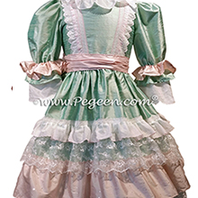 Nutcracker - Holiday Dress Style 723 CLARA MULTI RUFFLE DRESS in Spring Green and Pink