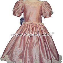 Rose Pink and Victorian Lilac Silk Nutcracker Party Scene Dresses