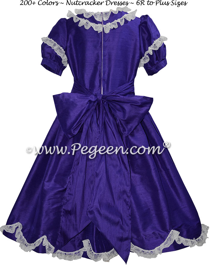 Royal Blue Silk and Lace Silk Nutcracker Party Scene Dress