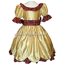Nutcracker Dress with Plaid Trim