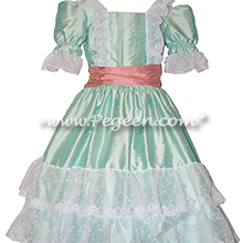 Sea Side Mint Silk Nutcracker Costumes and Party Scene Dresses