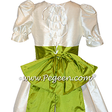 Bisque and Grass Green Nutcracker Party Scene Dress Style 745