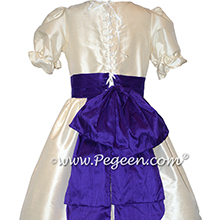 Bisque and Royal Purple Nutcracker Party Scene Dress Style 745