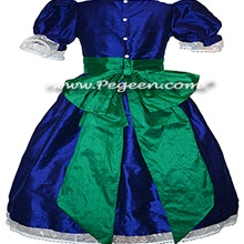 Basil Green and Blue Indigo Nutcracker Ballet Party Scene Dresses