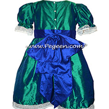 Custom Holiday Green and Sapphire Blue Nutcracker Dresses