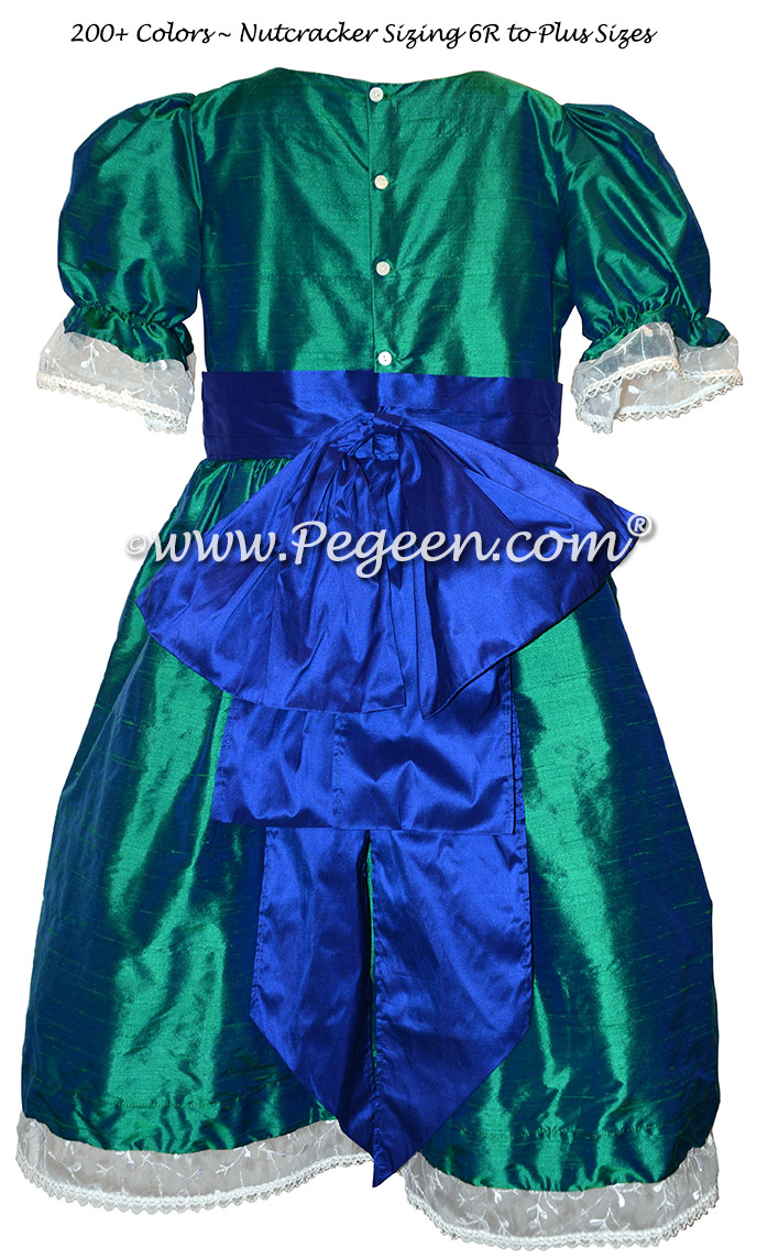 Custom Holiday Green and Sapphire Blue Nutcracker Dresses Style 745