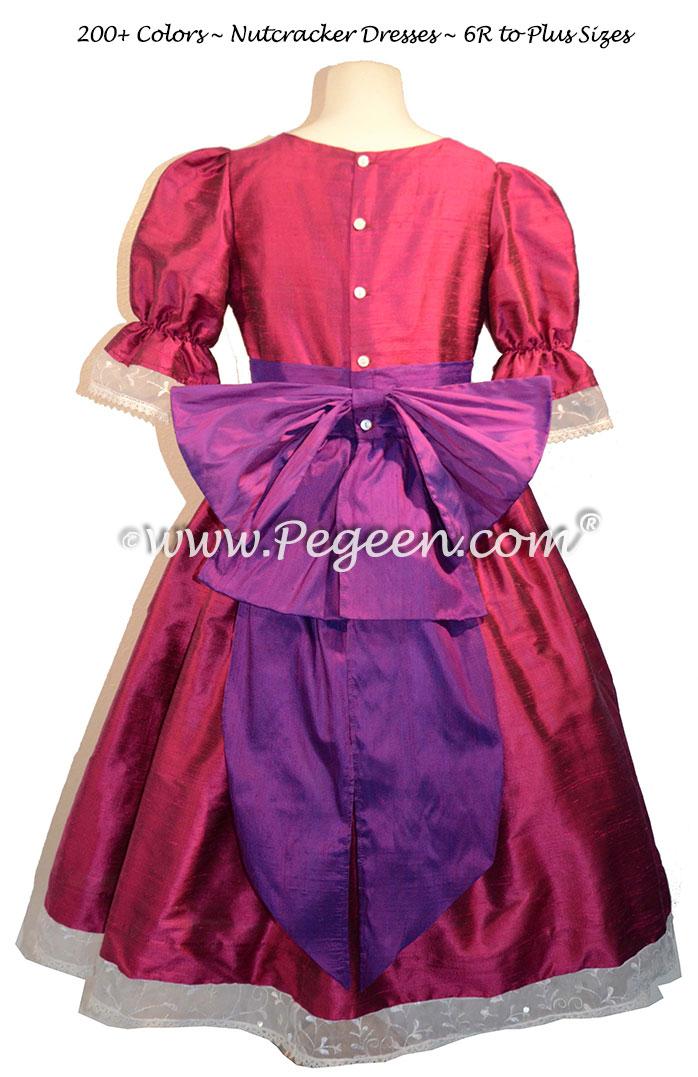 Nutcracker Party Scene Dress in Raspberry and Boysenberry Style 745