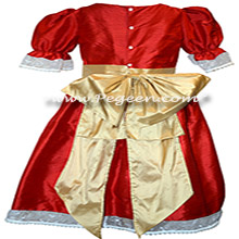 Red and Gold Nutcracker Ballet Party Scene Dresses