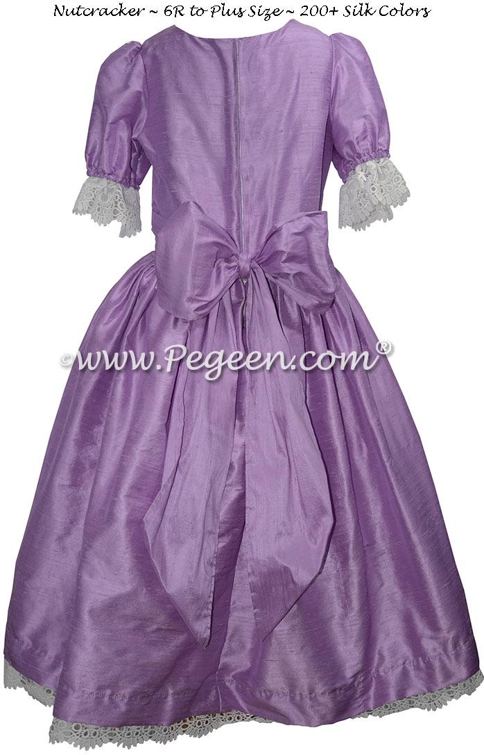 Amethyst Silk and Lace Nutcracker Dress for Nutcracker Party Scene