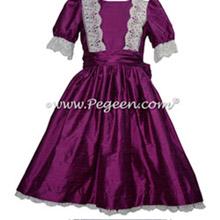 Berry Silk Nutcracker Dress for Nutcracker Party Scene