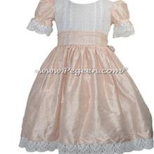 Blush Pink  Silk and Lace Nutcracker Dress for Nutcracker Party Scene