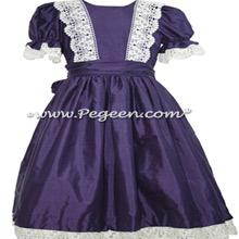 Purple Silk and Lace Nutcracker Party Scene Dress