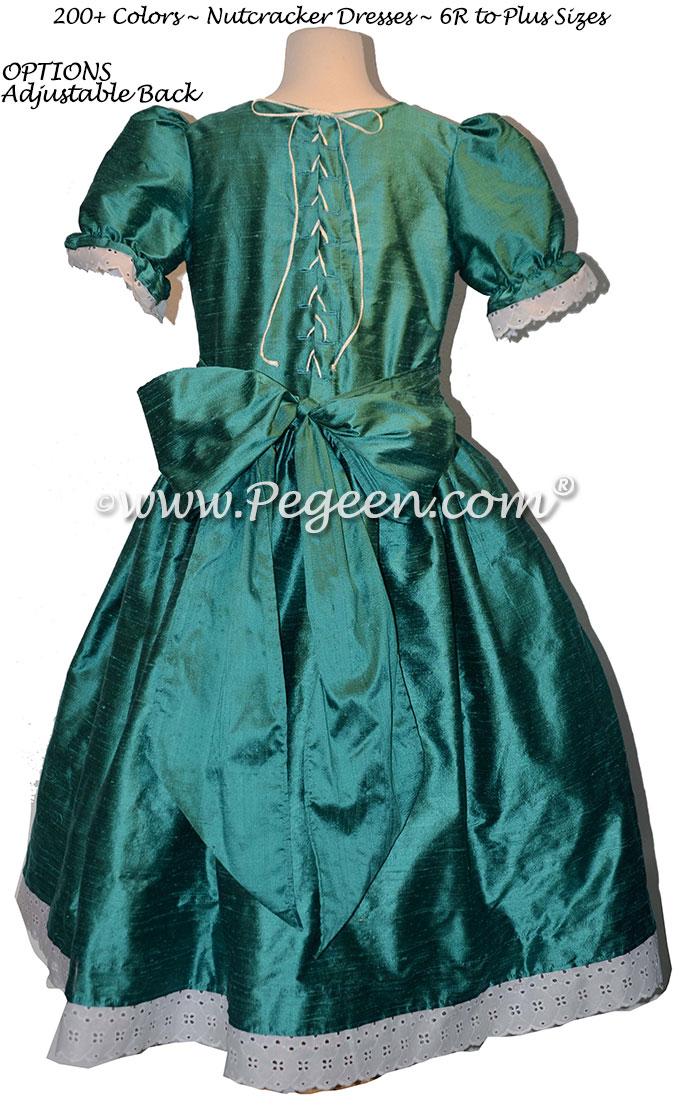 Nutcracker Party Scene Dress in Juniper Green Style 751