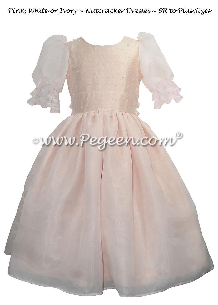 Blush Pink and Swarovski Sparkle Silk Nutcracker Costume
