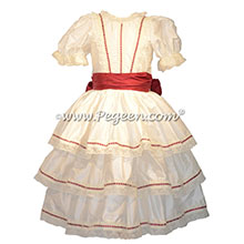 Ribbon Trimmed Victorian Styled - Silk Clara Costume Style 756