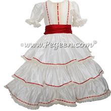 Ivory and Christmas Red Nutcracker Dress for Clara