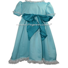 Basil Green and Pink Silk Custom Nutcracker Dress Style 701