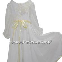 Clara Nutcracker Nightgown Dress in Ivory Charmeuse Silk