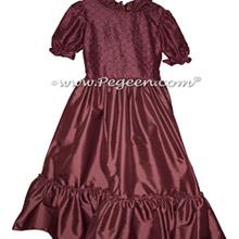 Women's Burgundy Nutcracker Dress for Party Scene Style 798
