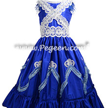 Sapphire Blue Costume for Adults in Party Scene Nutcracker Ballet