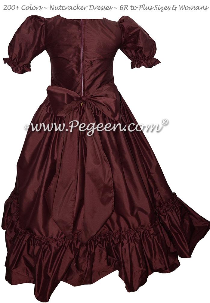 Women's Burgundy Nutcracker Dress for Party Scene Style 799