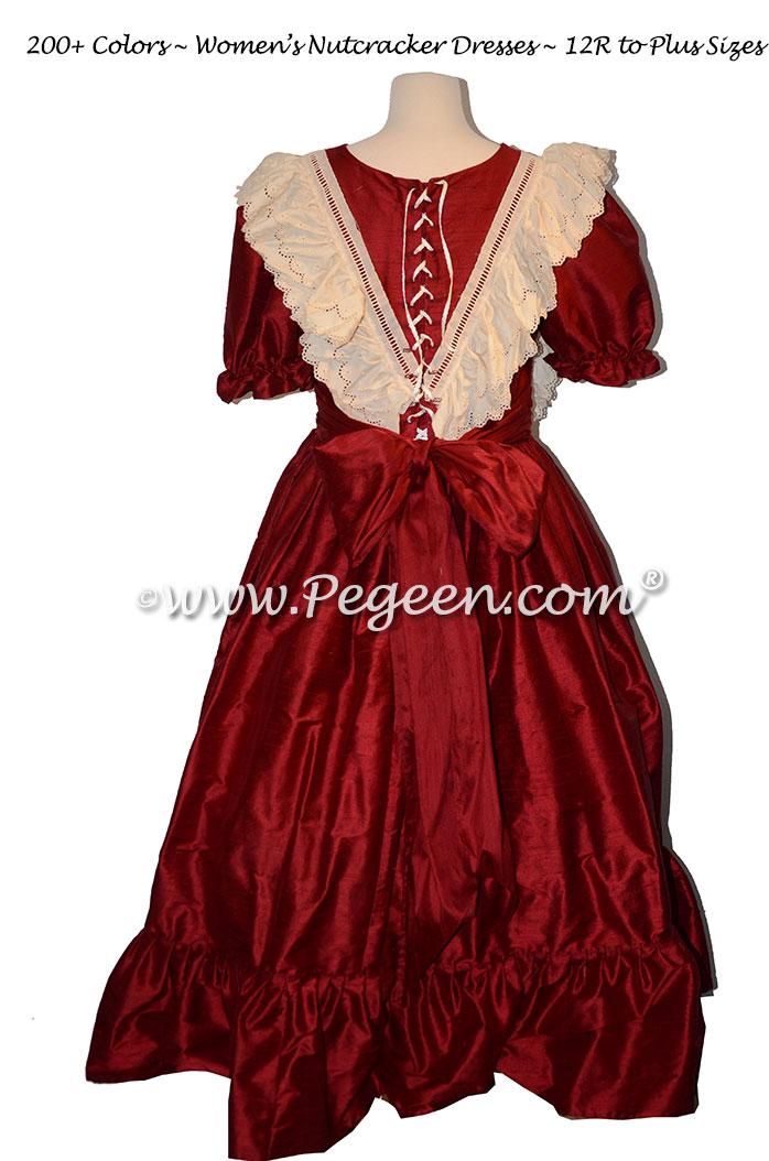 Women's Cranberry Nutcracker Dress for Party Scene Style 799
