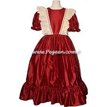 Custom Silk Sapphire Jr Bridesmaids Dress with High-Low Hem