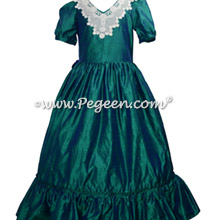 Women's Nutcracker Dress for Party Scene Style 799 in Green and Blue