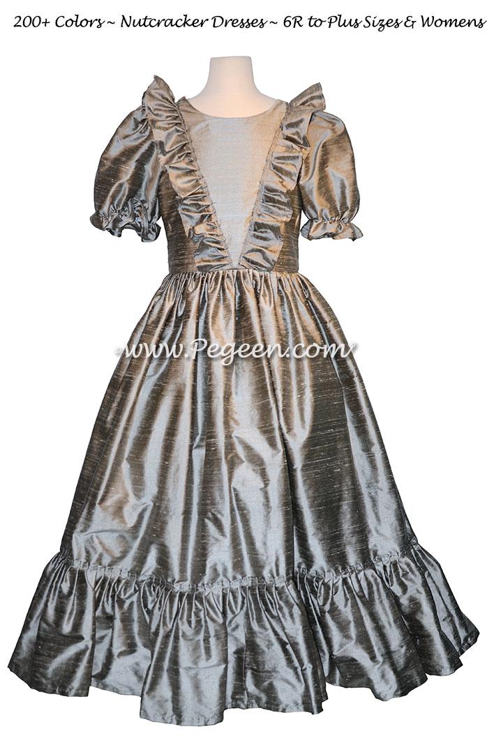 Women's Silver Gray Nutcracker Dress for Party Scene Style 799