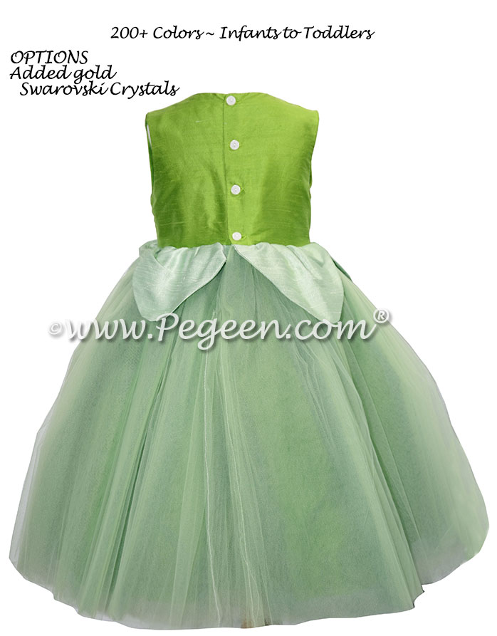 Toddler Tinkerbell dress while visiting Disney World