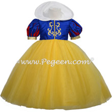 Snow White Disney style flower girl dress in silk