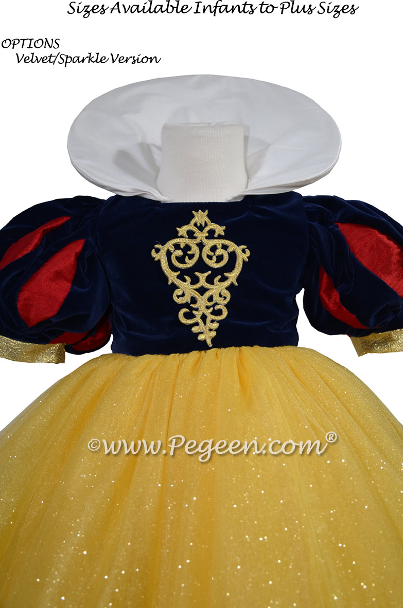 Snow White flower girl dress while visiting Disney World