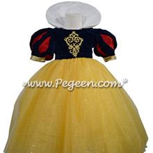 Snow White Disney style flower girl dress in velvet