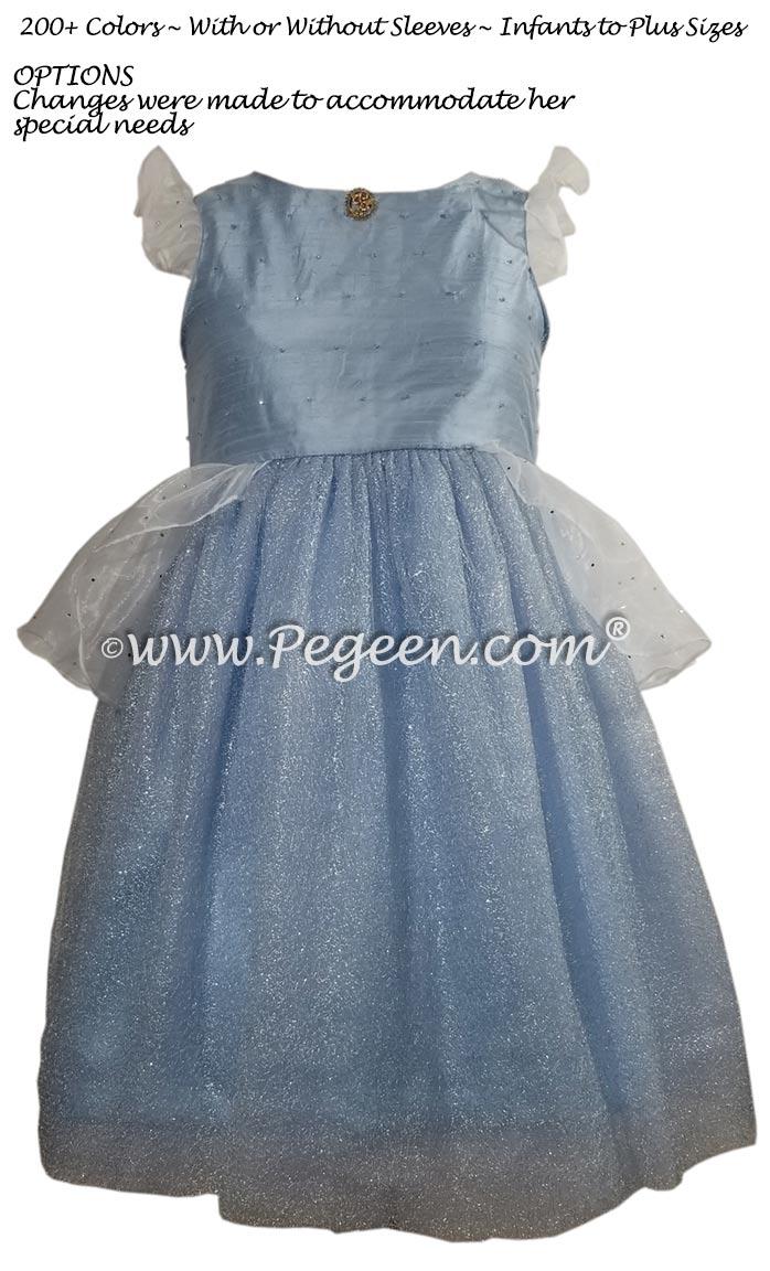 Cinderella Disney Style flower girl dress for plus size girl
