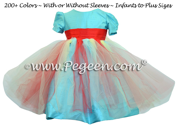 Pacific Breeze and Red Fairy Tulle Girl Dresses Style 901