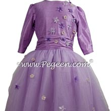 Amethyst Bat Mitzvah dress with shade of purple tulle